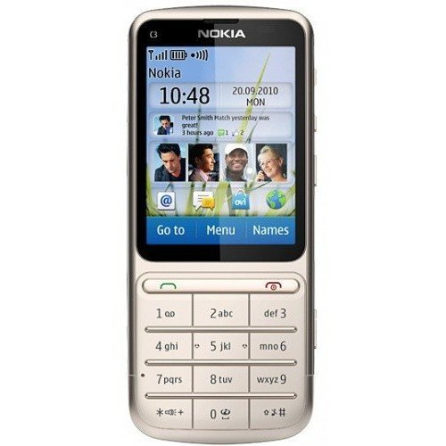 Мобильный телефон Nokia C3-01.5 Touch and Type Khaki Gold