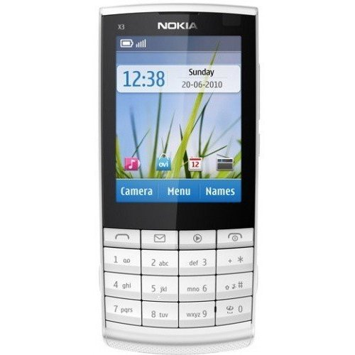 Мобильный телефон Nokia X3-02.5 Touch and Type White Silver