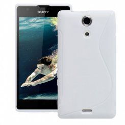 Чехол Silicon case для Sony Xperia ZR White