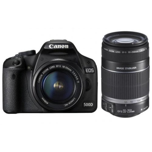 Цифровые фотоаппараты Canon EOS 500D 18-55 + 75-300 Kit