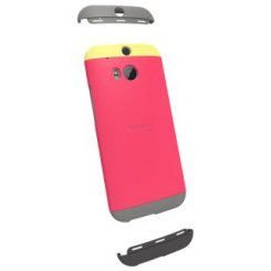 Чехол HTC HC C940 для HTC One (M8) Double Dip Case Yellow/Raspberry Rose/Grey
