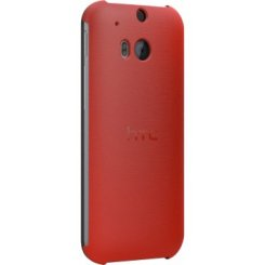 Чехол HTC HC V941 для HTC One (M8) Flip Case Poppy Red