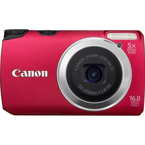 Цифровые фотоаппараты Canon PowerShot A3300 IS Red