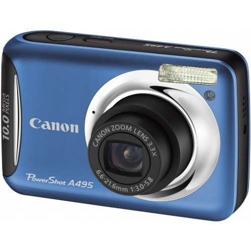 Цифровые фотоаппараты Canon PowerShot A495 Blue