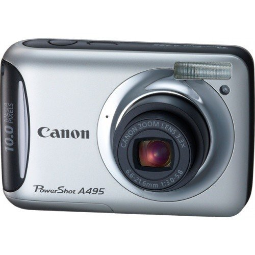 Цифровые фотоаппараты Canon PowerShot A495 Silver
