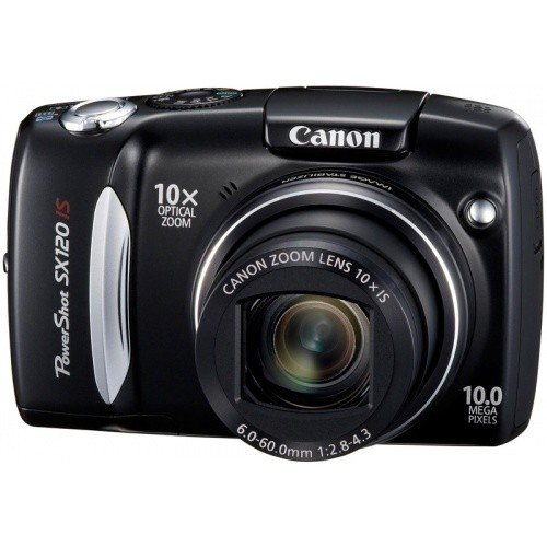 Цифровые фотоаппараты Canon PowerShot SX120 IS Black