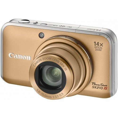 Цифровые фотоаппараты Canon PowerShot SX210 IS Gold