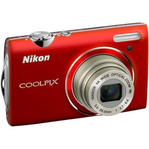 Цифровые фотоаппараты Nikon Coolpix S5100 Red