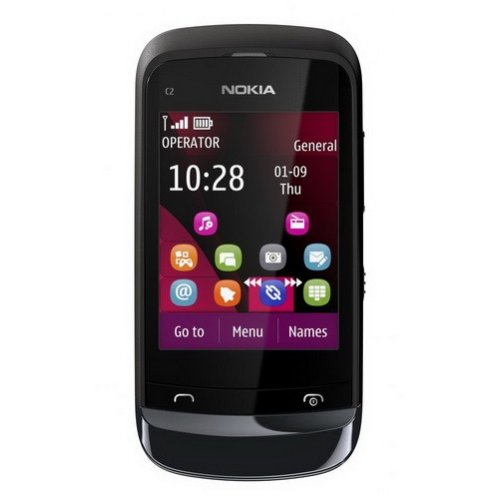 Мобильный телефон Nokia C2-03 Touch and Type Dual SIM Chrome Black