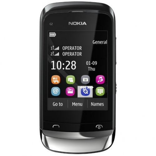 Мобильный телефон Nokia C2-06 Touch and Type Dual SIM Graphite