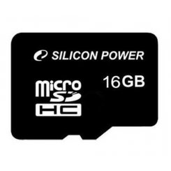 Silicon Power microSDHC 16GB Class 4 (без адаптера) (SP016GBSTH004V10)