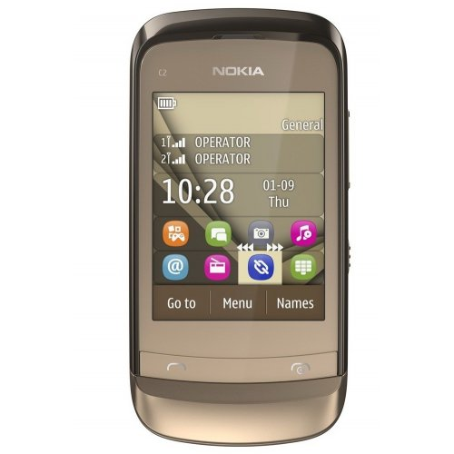 Мобильный телефон Nokia C2-06 Touch and Type Dual SIM Golden Buff