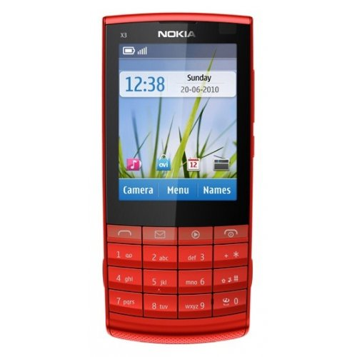 Мобильный телефон Nokia X3-02.5 Touch and Type Red