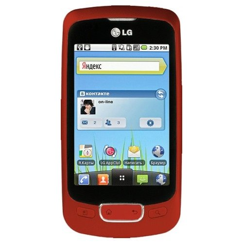 Смартфон LG P500 Optimus One Red