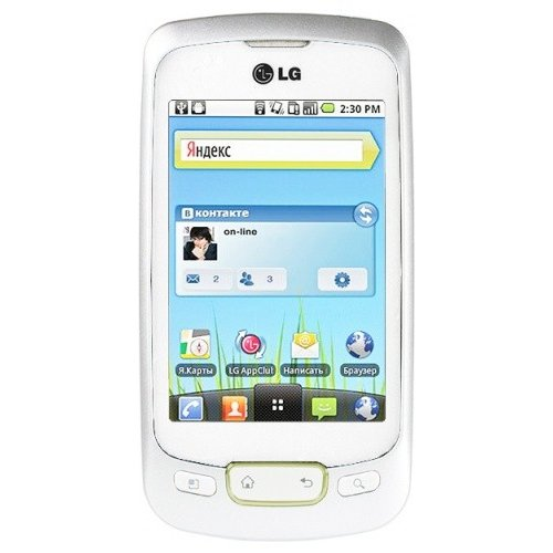 Смартфон LG P500 Optimus One White Gold