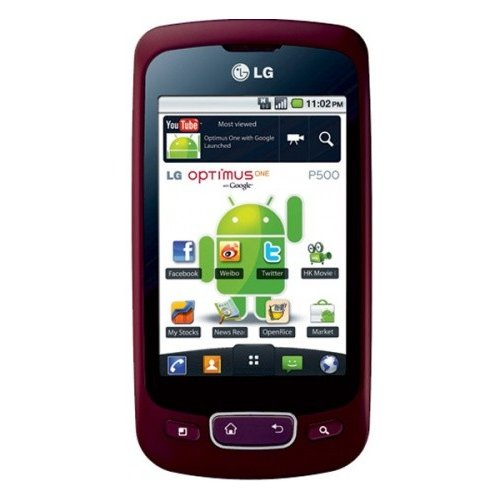 Смартфон LG P500 Optimus One Wine