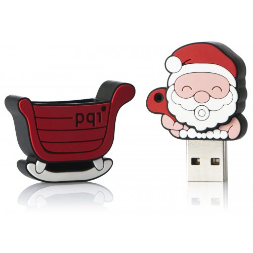 Накопитель PQI I-Stick U827 4GB Red Santa