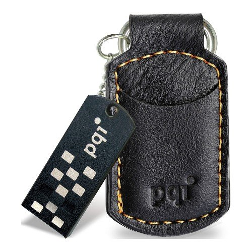 Накопитель PQI I-Stick i820 Leather KeyChain 8GB Black