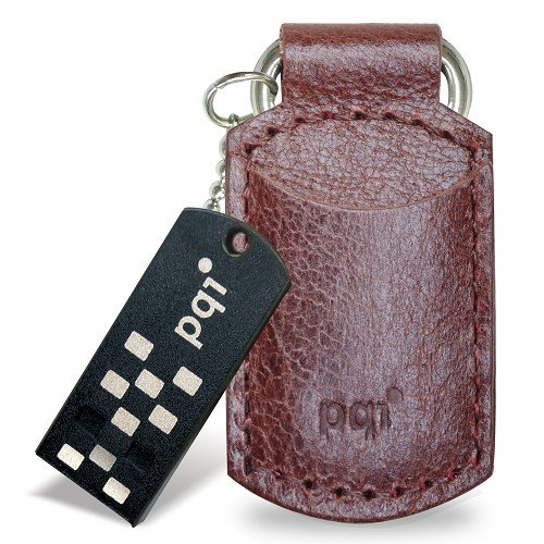 Накопитель PQI I-Stick i820 Leather KeyChain 8GB Coffee