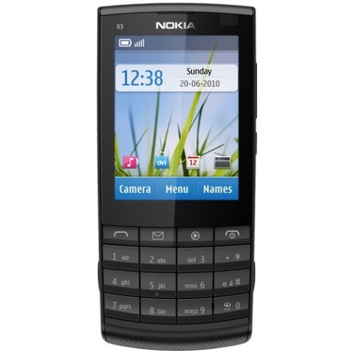 Мобильный телефон Nokia X3-02.5 Touch and Type Dark Metal