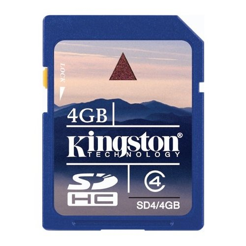 Карта памяти Kingston SDHC 4GB Class 4 (SD4/4GB)