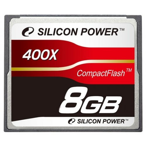 Карта памяти Silicon Power CF 8GB (400x) (SP008GBCFC400V10)