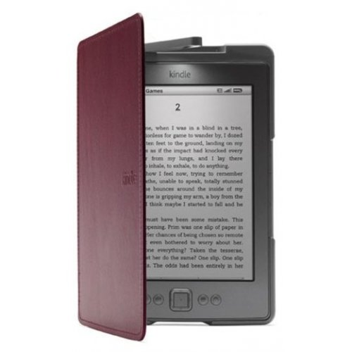 Обложка Amazon Kindle 4 Lighted Leather Cover Wine Purple