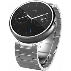 Motorola Moto 360 Stainless Steel with Light Finish Natural