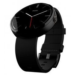 Motorola Moto 360 Black Leather Black