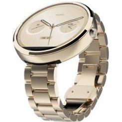Motorola Moto 360 Stainless Steel with Champagne Gold Finish Slim Band Champagne Metal