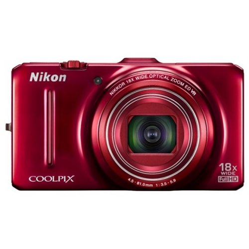 Цифровые фотоаппараты Nikon Coolpix S9300 Red