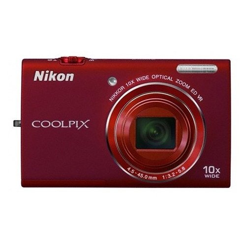 Цифровые фотоаппараты Nikon Coolpix S6200 Red