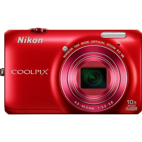 Цифровые фотоаппараты Nikon Coolpix S6300 Red
