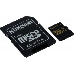 Kingston microSDXC 64GB Class 10 UHS-I (с адаптером) (SDCA10/64GB)