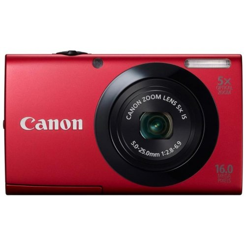 Цифровые фотоаппараты Canon PowerShot A3400 IS Red