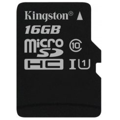 Kingston microSDHC 16GB Class 10 UHS-I (без адаптера) (SDC10G2/16GBSP)
