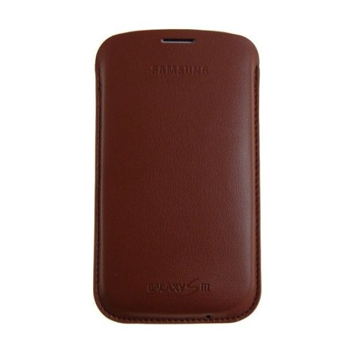 Чехол Samsung Leather Pouch для Galaxy SIII I9300 (EFC-1G6LDECSTD) Light Brown