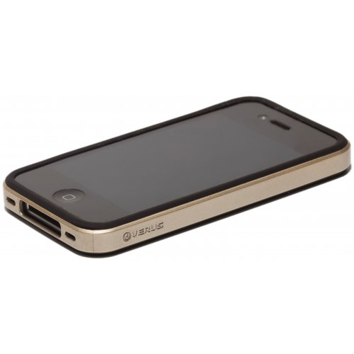 Чехол Verus Crutial Mix Bumper Apple iPhone 4S Black/Silver