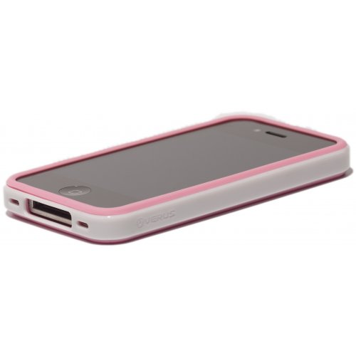 Чехол Verus Crutial Mix Twin Apple iPhone 4S Pink/White