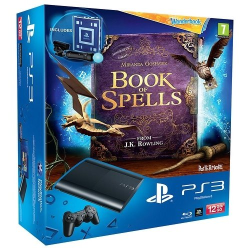 Sony PS3 Super Slim 12GB + игра Book of Spells + Move Starter Pack