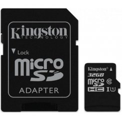 Kingston microSDHC 32GB Class 10 UHS-I (с адаптером) (SDC10G2/32GB)
