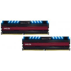 Team DDR4 8GB (2x4GB) 3000Mhz Delta Red LED (TDTRD48G3000HC16ADC01)