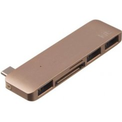 Kit Multiport USB-C to USB-A 3.0 Gold