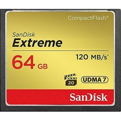 SanDisk Compact FlashExtreme 64GB R120/W85MB/s (SDCFXSB-064G-G46)