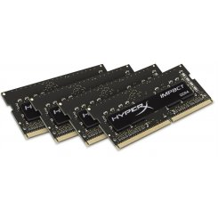 Kingston SODIMM DDR4 16Gb (4x4GB) 2400Mhz HyperX Impact Black (HX424S15IBK4/16)