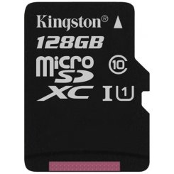 Kingston microSDXC 128GB Class 10 UHS-I (без адаптера) (SDC10G2/128GBSP)