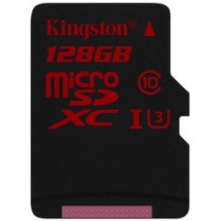 Kingston microSDXC 128GB Class 10 UHS-I U3 (без адаптера) (SDCA3/128GBSP)