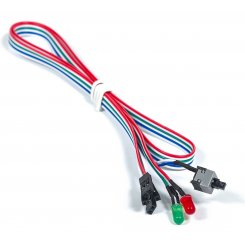 T-Cable Power/Reset Switch + 2 LED 0,65m