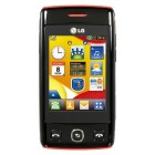 LG T300 Cookie Lite Black Red
