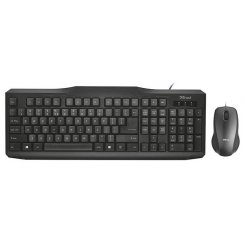 Trust Classicline Wired Keyboard with mouse UKR (21873)